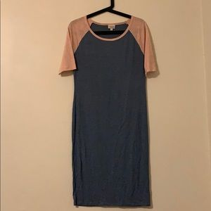 LulaRoe Dress pink and blue size Sm